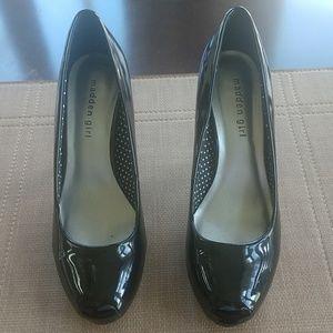 "Madden Girl black patent leather ""Getta"" pumps"